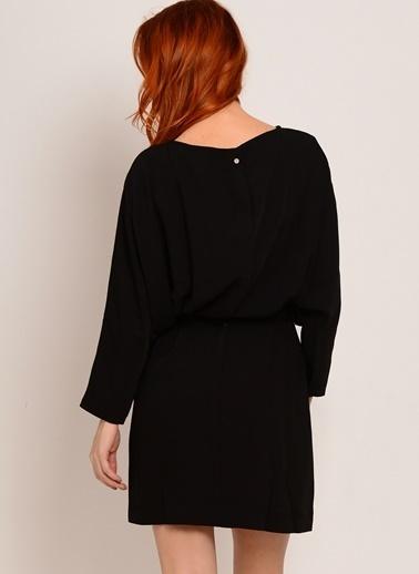 One O Eıght Truvakar Kol Kısa Elbise Siyah